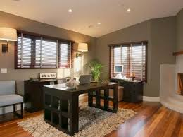 designing your home office. Contemporary Home Office With Fireplace Designing Your HGTV.com
