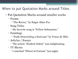 How To Title A Poem Song Title Punctuation Under Fontanacountryinn Com