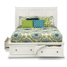 white king storage bed.  King Hanover White King Storage Bed  American Signature Furniture In E