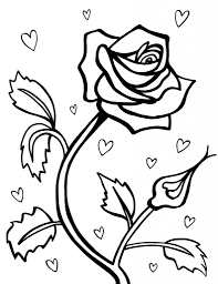 for pretty flowers shrewd coloring page of a rose roses pages free inside ing