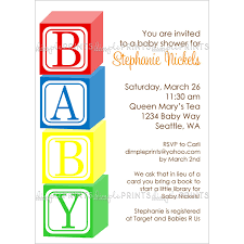 Baby Blocks Printable Shower Invitation Dimple Prints Shop