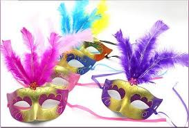 Large Masquerade Masks For Decoration On Sale Supper Mini Mask Venetian Masquerade Feather Mask Party 57