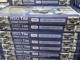 neo tile urban groove light grey porcelain tile costco 2