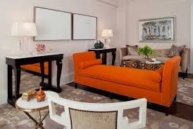 living room decoration with orange sofa black wooden table with modern orange living room burnt orange living room furniture