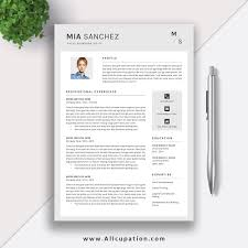Teacher Resume Template Word Creative Resume Template Cover Letter Word Modern Simple 69