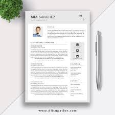 Modern Simple Resume Template Resume Template Word Cv Template Best Resume Design Job Resume