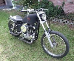 1977 harley ironhead sportster straight bobber motorbike by rick