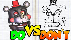 dos don ts drawing five nights at freddy s lefty in 1 minute challenge