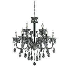 smoke crystal chandelier restoration hardware foucaults orb 6 3 light in plated and chrome finish