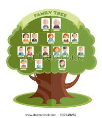 famiy tree family tree template portraits relatives place stock vector