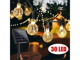 Solar Powered <b>30LED String</b> Light Garden Path Yard Decor Lamp ...