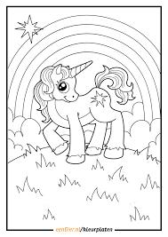 Kleurplaat Eenhoorn Download Gratis Eenhoorn Kleurplaten Eendiernl