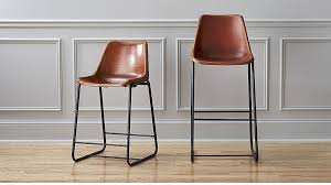 modern leather bar stools. Roadhouse Leather Bar Stools CB2 Within Decor 0 Modern T