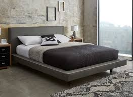 diaz grey faux leather bed frame  dreams