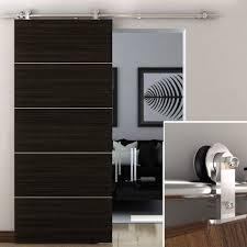 6 6ft modern stainless steel barn wood sliding single door hardware kit for closet doors com