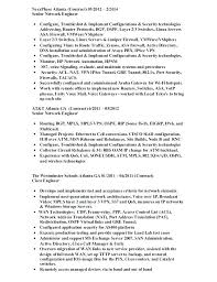 Sample Resume Of Network Engineer Intelligent Network Engineer