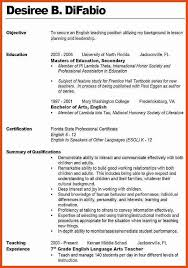 Objective For Teaching Resume teaching resume objective moa format 39