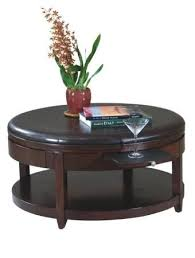 round cocktail ottoman with casters