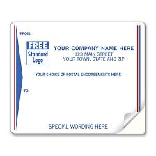 Printed Return Address Label Shipping Label Return Address Label Pre Printed With Red
