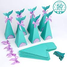 PartyTalk 50pcs Mermaid Party Boxes Favors ... - Amazon.com