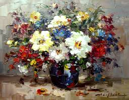 whole painting flowers colour contrast strong oil painting handmade oil painting home decorative wall
