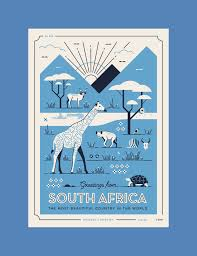 South Africa Graphic Design Greetings From South Africa Postcards Series On Behance