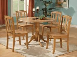 classic solid wood round kitchen table ideas