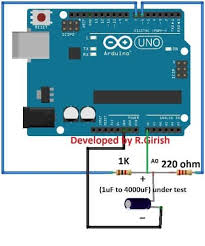 digital capacitance meter circuit using