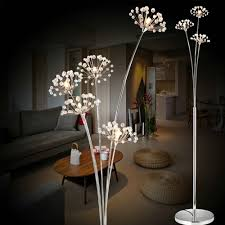 Flower Lights For Bedroom Us 154 16 6 Off New Modern Crystal Floor Lamp For Living Room Flower Decorative Led Steel Standing Lamps Bedroom Classic Light By Italy Designer In