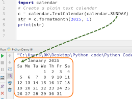 Sample Agenda Calendar Classy Python CALENDAR Tutorial With Example