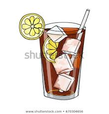 glass of iced tea clip art. Fine Clip Glass Of Long Island Ice Tea Cocktail Ice Cubes And Lemon Slice Hand  Drawing On Of Iced Clip Art W