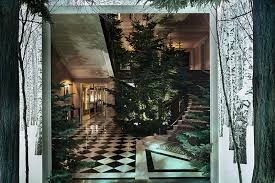 Apple Designer House Apples Jony Ive And Marc Newsons Immersive Christmas Tree