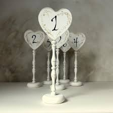 wedding table numbers signs rustic table numbers wooden signs white wedding signs heart table numbers set of 6