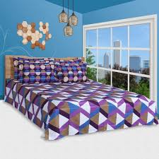 6 pc duvet cover and bed sheet set king size 100 cot