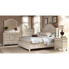 Shop Laguna Antique White Panel Bed 6-piece Bedroom Set by Greyson ...