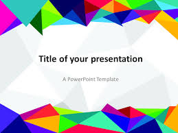 Free Powerpoint Backgrounds Templates Free Powerpoint Template With Colors Of The 80s Abstract