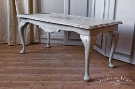 interior shabby chic coffee table really encourage white high gloss vintage style living room 11
