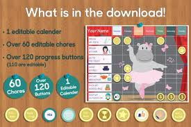 Kids Reward Chart Chore Chart For Kids Printable Chore Charts Kids Chore Charts Girls Chore Board Kids Cute Planner Girls Wall Chart