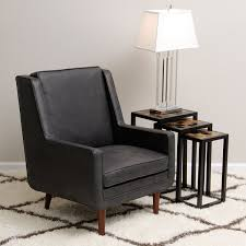 amazing of black leather accent chair moss oxford leather black accent chair 15465007