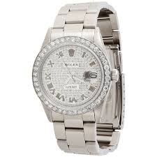 mens rolex datejust 36mm r diamond dial watch oyster mens rolex datejust 36mm r diamond dial watch oyster stainless steel 4 ct