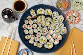 making sushi rolls for your holiday