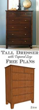 tool free furniture. build a gorgeous tall dresser with tapered legs for your bedroom free woodworking plans tool furniture d