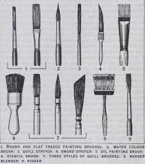 artist brushes for various styles