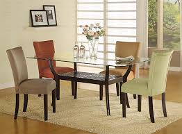 casual kitchen dinette sets design glass top dining table best glass dining