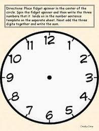 Big Blank Clock Instructions Print On A Heavy Cardstock Paper