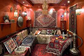 Often Moroccan Rugs With Beautiful And Exquisite Designs Cover Furniture  Tables Sofas Leading The Eye Down