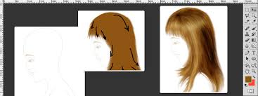 Hair Photoshop How To Draw Hair In Photoshop Tutorial