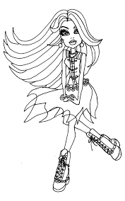 Small Picture Spectra Vondergeist Being Relax Coloring Page Monster High