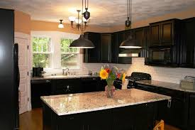 kitchen color ideas with dark cabinets small kitchens