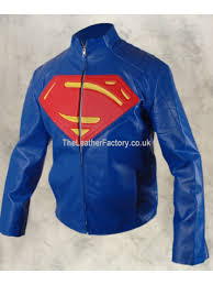 smallville superman celebrity jacket blue and red